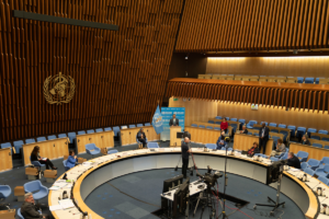 WHO/C. Black Executive Board Room in WHO Headquarters, Geneva