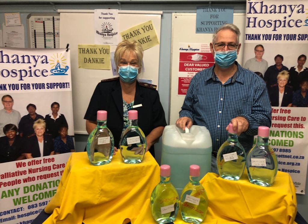 Scottburgh's Khanya Hospice receives donation of 100 litres of sanitiser