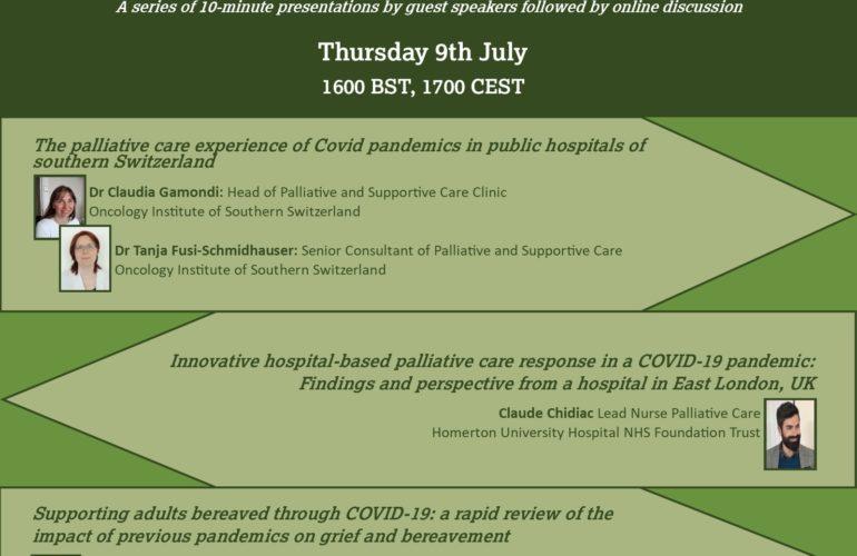 COVID-19 Palliative Care research webinar