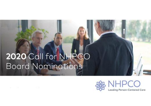 2020 NHPCO call for nominations to the board is open.