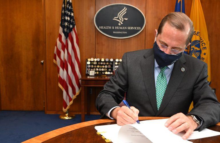 Secretary Azar Signs Renewal of Public Health Emergency Determination