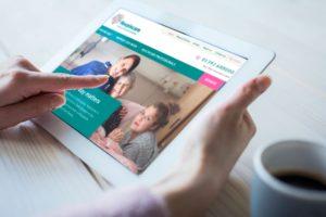 Hospiscare website on iPad