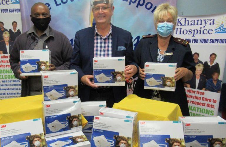 Businesses donate face masks and sanitiser to Khanya Hospice