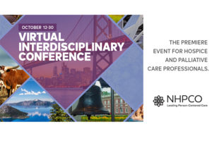 NHPCO's 2020 Virtual Interdisciplinary Conference, October 12-30.