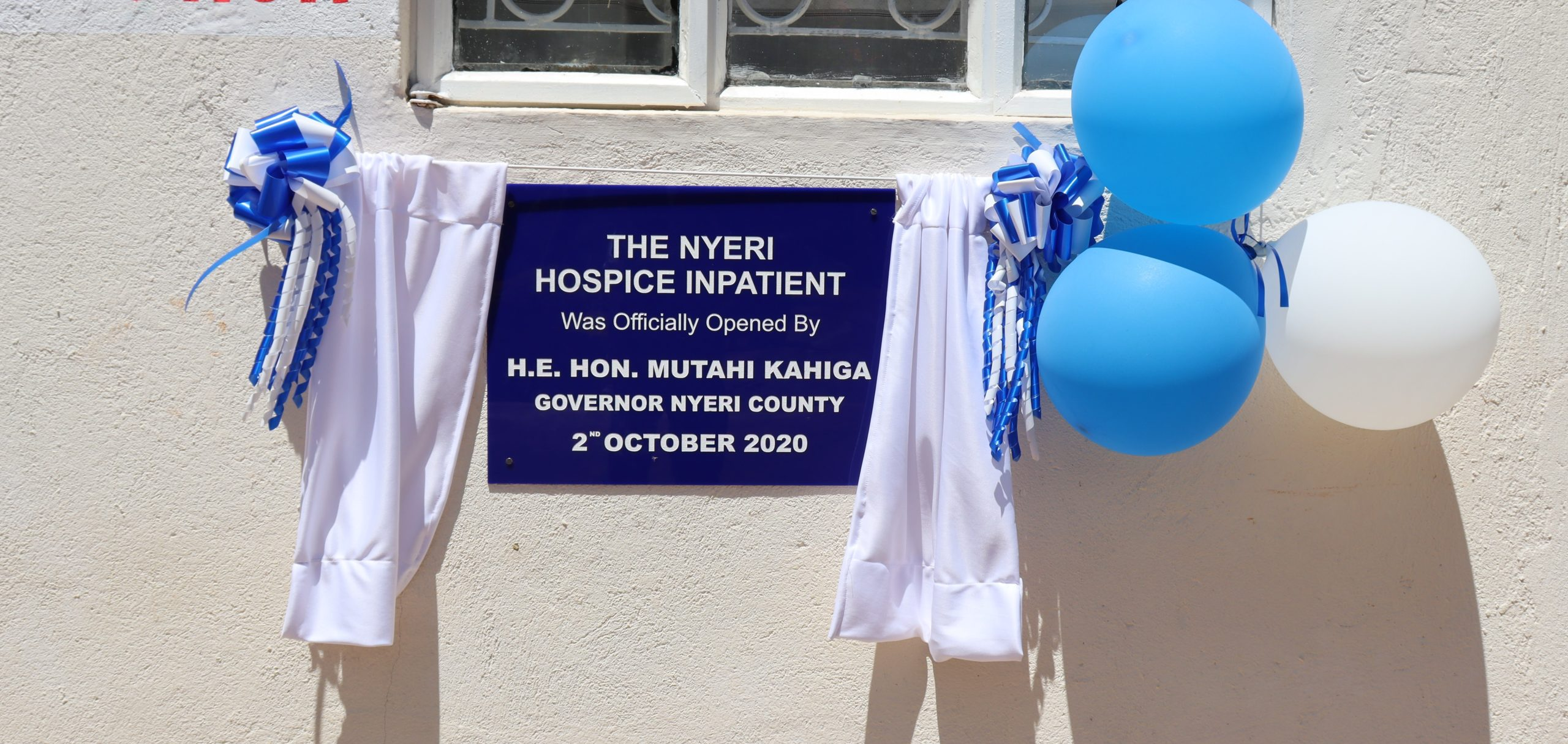 Nyeri Hospice Inpatient Wing Launch 2nd October 2020