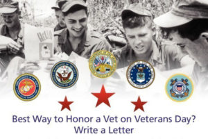 VITAS Healthcare will collect and distribute handwritten letters to veterans in its communities and care facilities throughout the nation in time for Veterans Day on November 11. To participate, visit VITAS.com/WriteAVet for details, addresses to send a letter, sample letters and letter-writing tips.