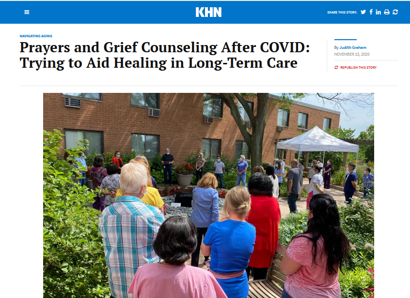 Prayers and Grief Counseling After COVID: Trying to Aid Healing in Long-Term Care
