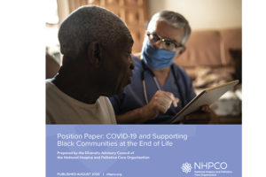 COVID-19 and Support for Black Communities at the End of Life