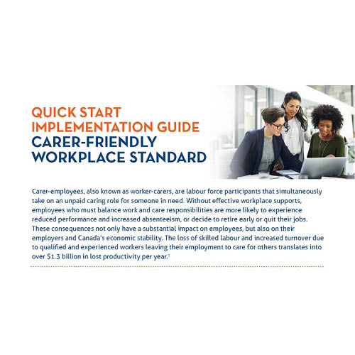 Quick Start Implementation Guide Carer-Friendly Workplace Standard