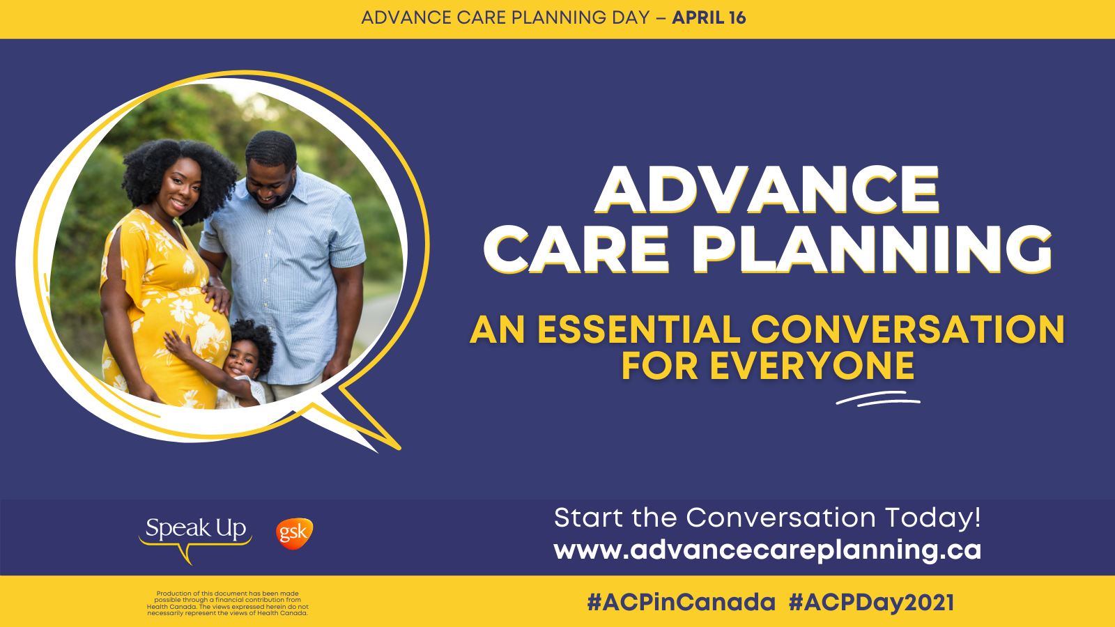 April 16th is National Advance Care Planning Day in Canada
