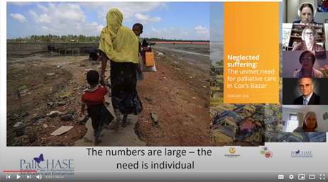 'Perspectives of the Integration of Palliative Care into Humanitarian Settings' - new series of webinars launched