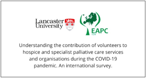 Volunteers in Palliative Care in the World of COVID-19: An InternationalSurvey