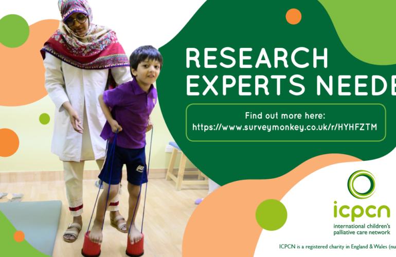 Calling Researchers and Children's Palliative Care Experts!