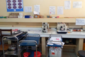 The Central African Republic's only Anatomy and Pathological Cytology laboratory in Bangui (pictured) produces the only data on cancer in the country.