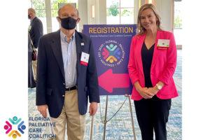 Florida Palliative Care Coalition Summit with Bill Novelli and Katy Lanz.