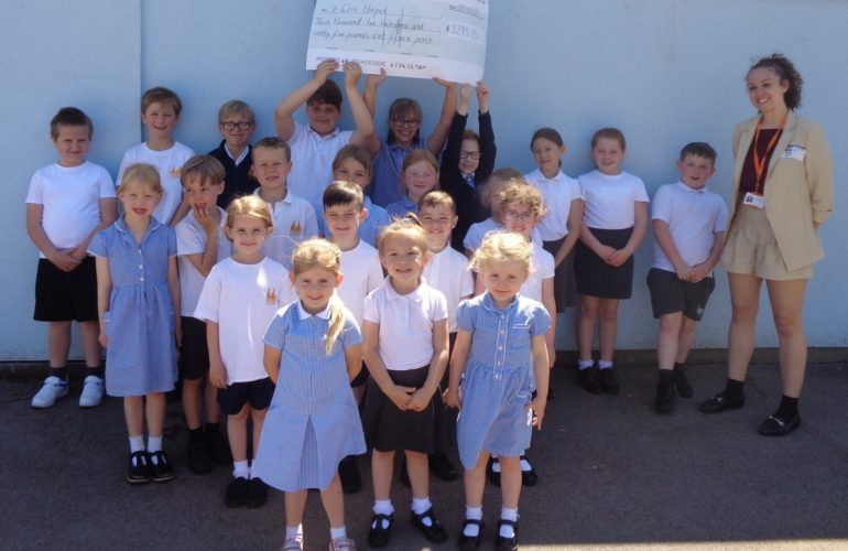 Captain Tom inspires Lichfield pupils to raise £3,295 for St Giles Hospice