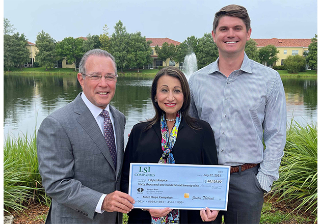 LSI Companies donates $40,000 to support Hope Healthcare's 'More Hope' campaign for hospice care