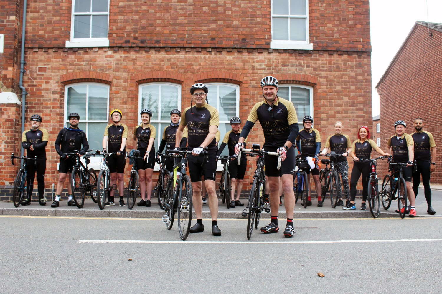 Fundraisers hit the road for 210-mile cycle ride to support St Giles Hospice