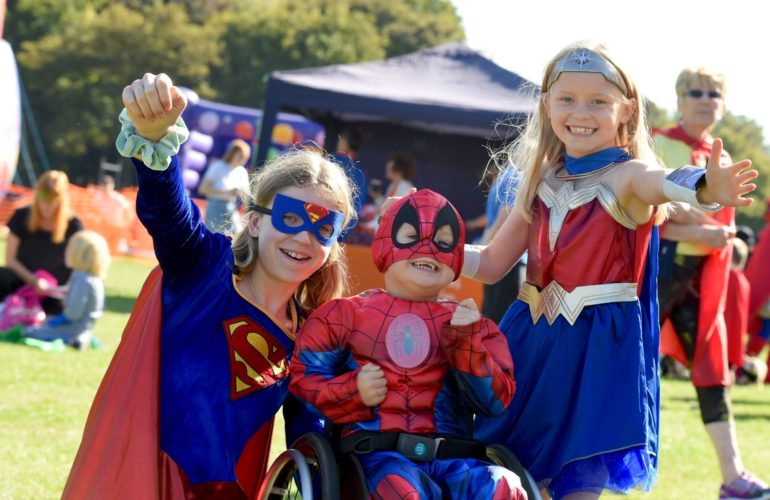 Pull on a cape to celebrate your hero at the St Giles Hospice Hero Walk