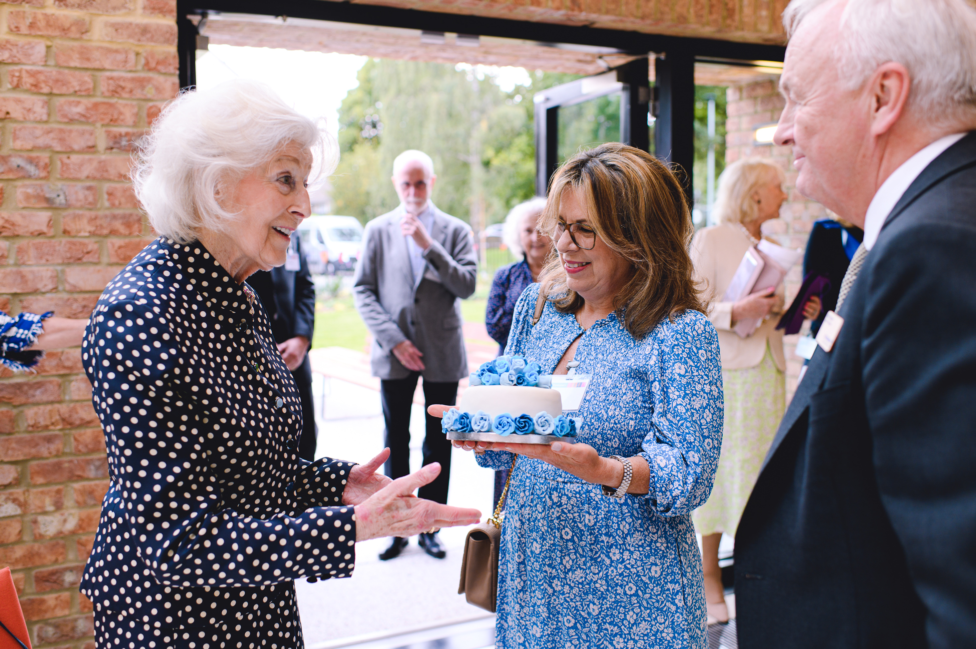 HRH Princess Alexandra unveils plaque to mark the grand opening of St Christopher's Centre for Awareness and Response at End of Life