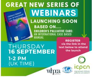 Children's Palliative Care - an international case based manual - new webinar series launching