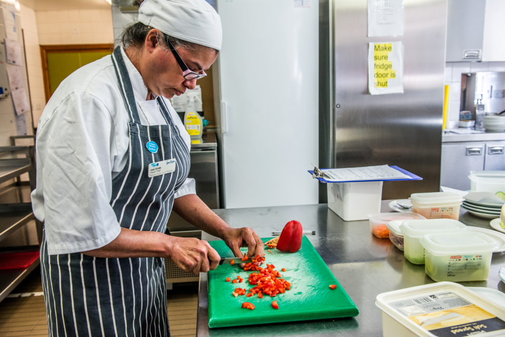 Head Chef at a Gloucestershire hospice opens the door to her kitchen